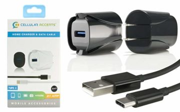 Mini Travel Charger / USB to Type C, 2.1 Amp (Black)
