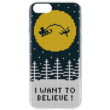 FLAVR Card Case Ugly Xmas Sweater Believe for iPhone 6/6s