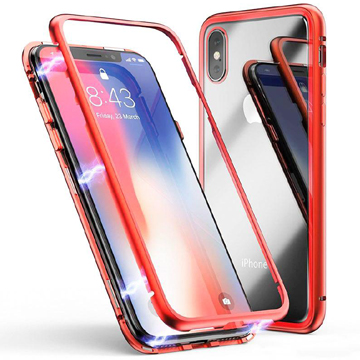 Magnetic Case for iPhone Xs Max – Red Trim